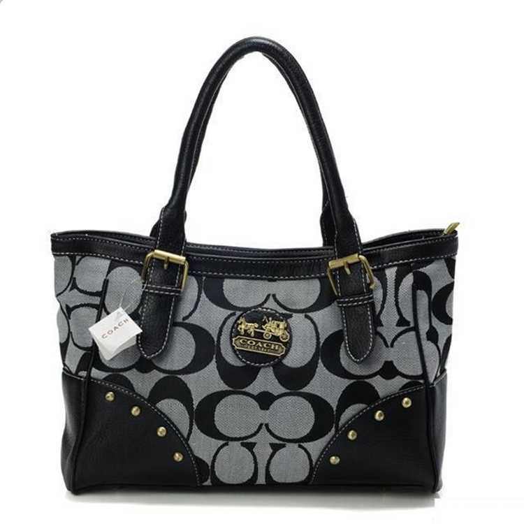Signature Black Tote Bag Coach