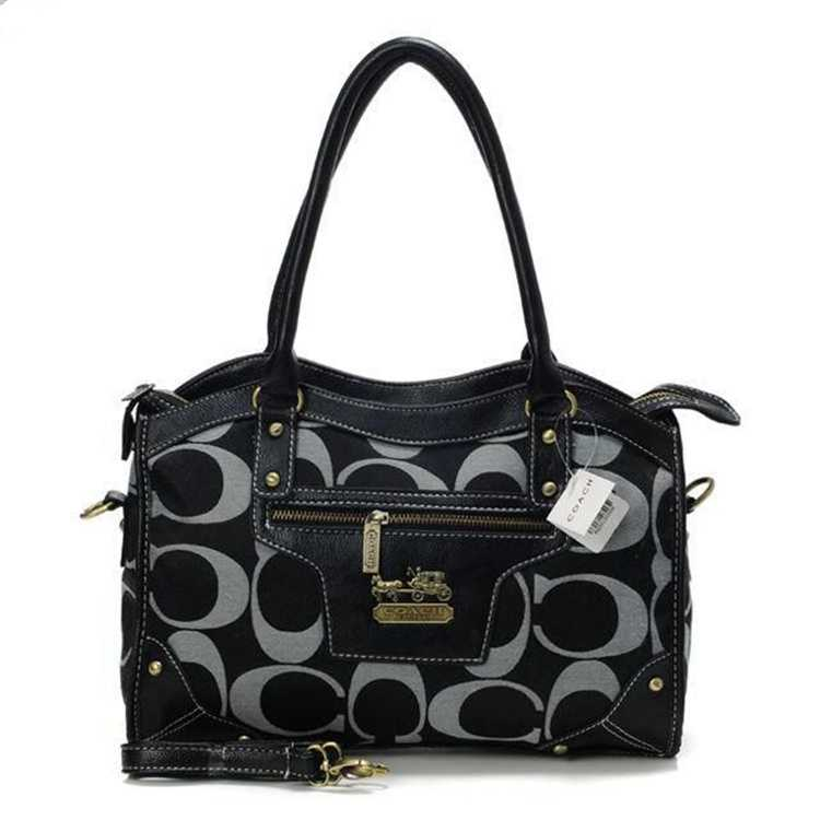 Black White Tote Bag Coach