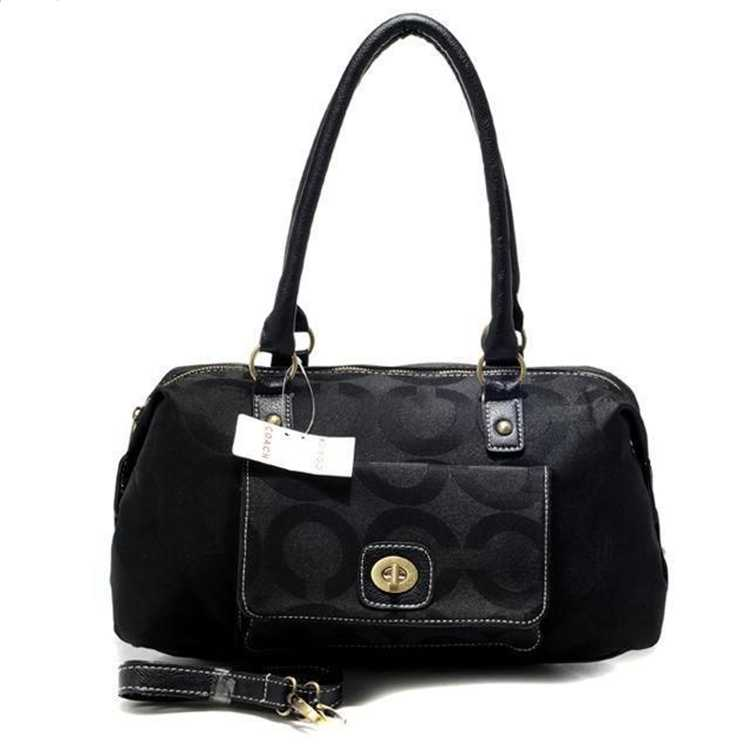 Circle Black Tote Bag Coach
