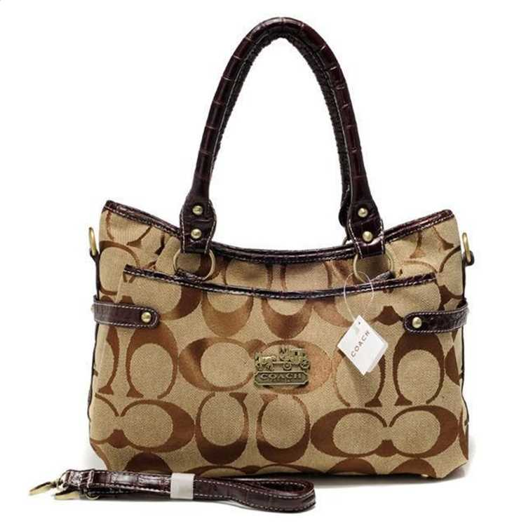 Signature Brown Tote Bag Coach
