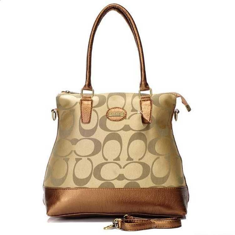 Apricot Golden Tote Bag Coach