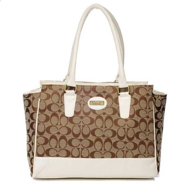 Tote Bag Coach White Apricot