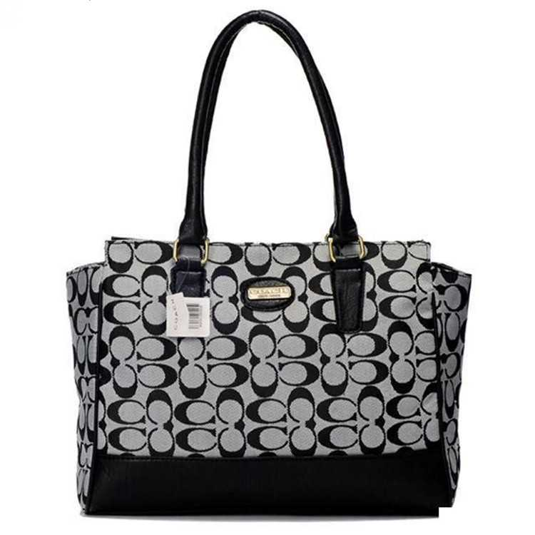 Tote Bag White Black Coach