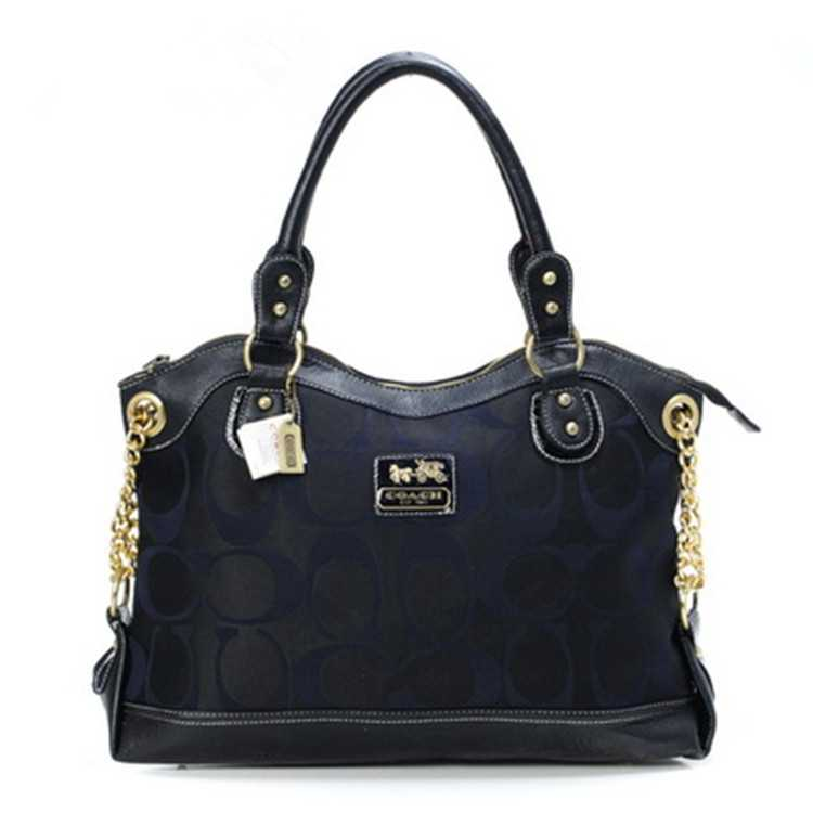Navy Black Tote Bag Coach