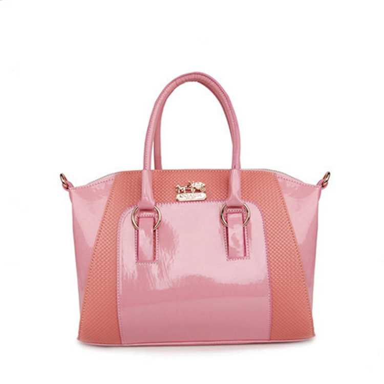 Coach Crossbody Handbag Pink Leather