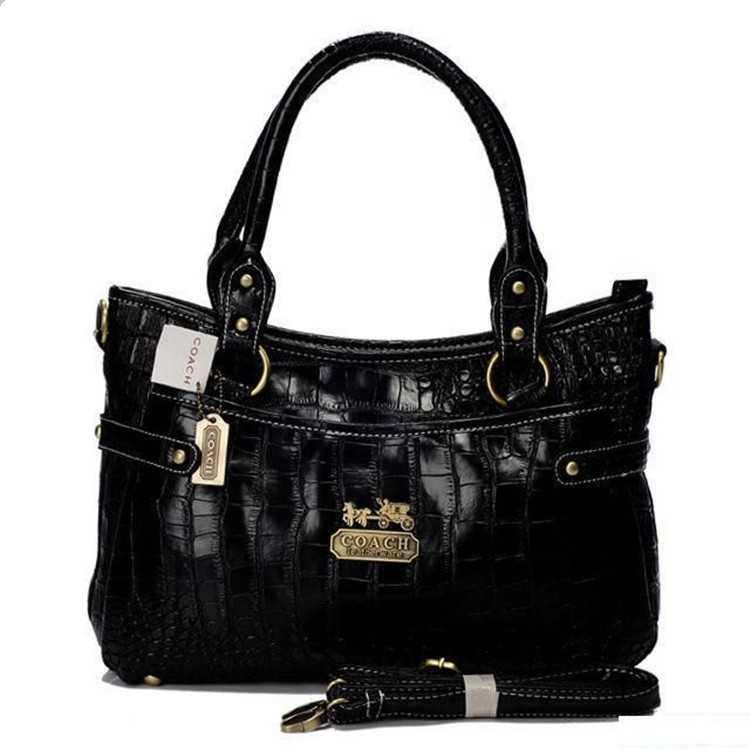Tote Handbag Leathre Black Coach