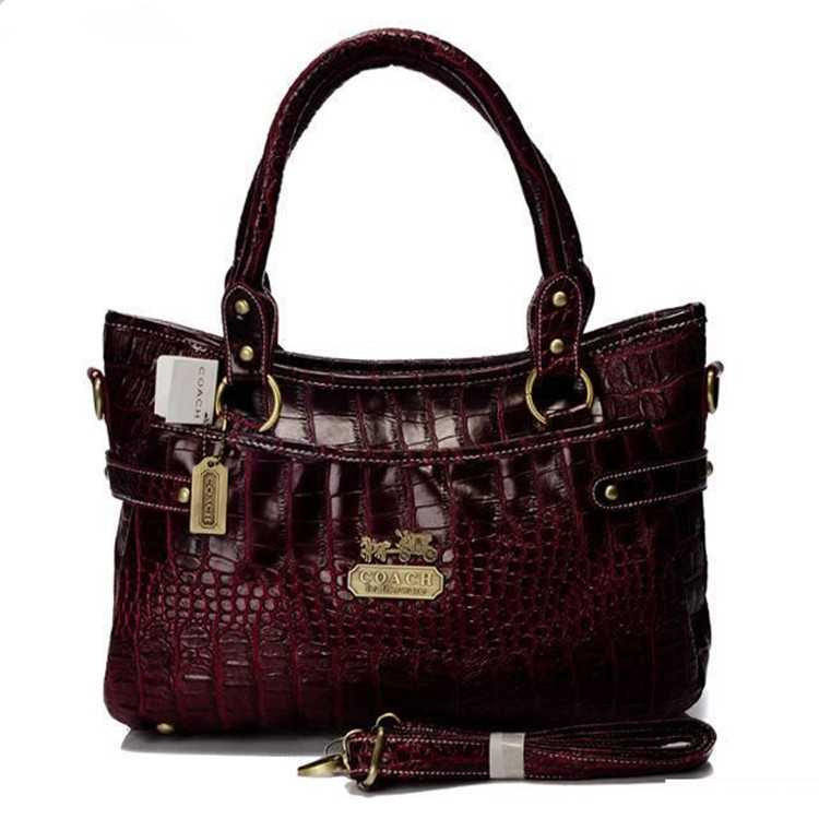Tote Handbag Leather Red Coach