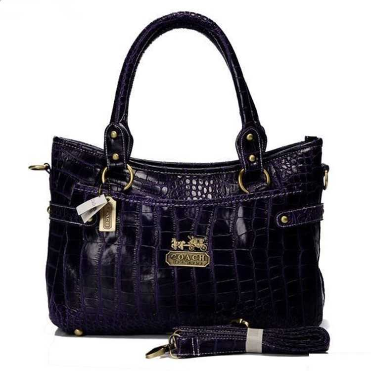 Tote Handbag Purple Coach