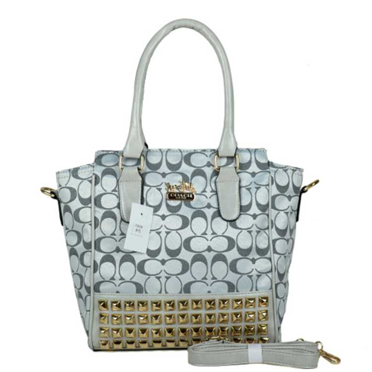 Gray White Crossbody Bags Coach