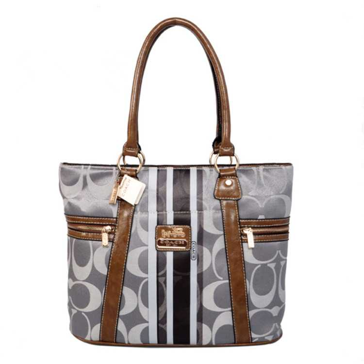 Tote Handbag Coffee Gray Coach