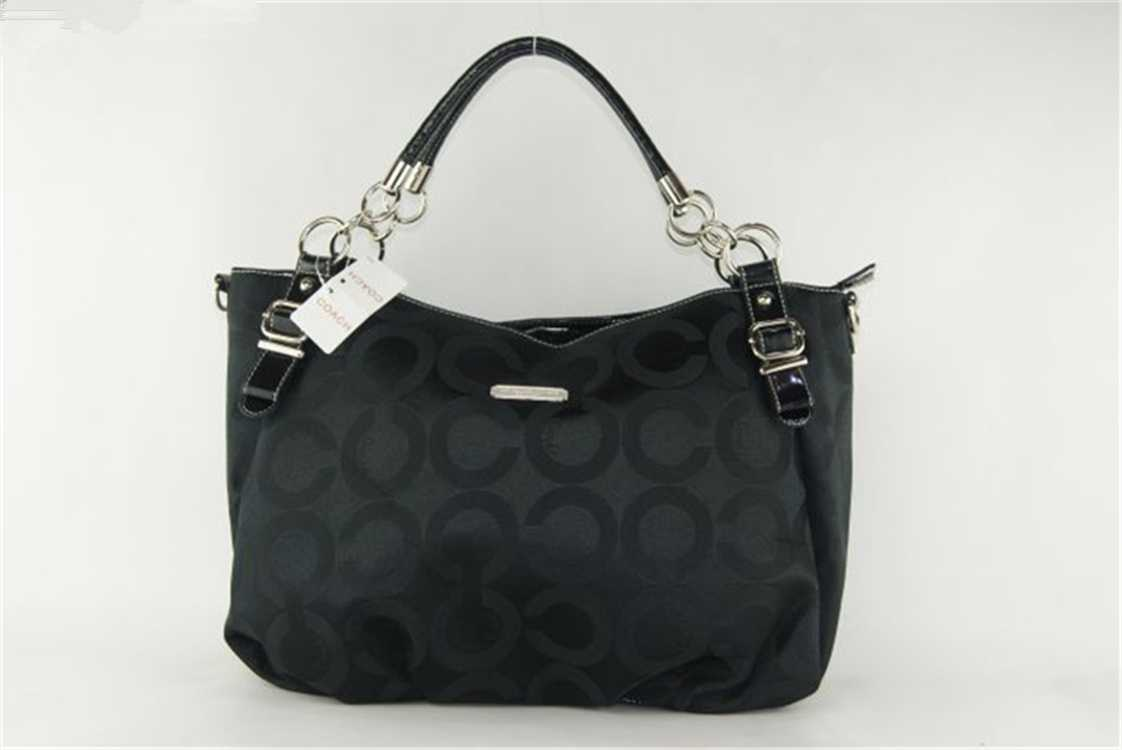 Coach Blck Circle Hobo Bag