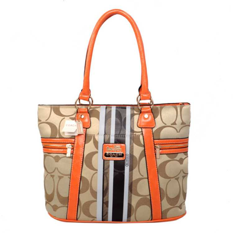 Tote Handbag Apricot Coffee Coach