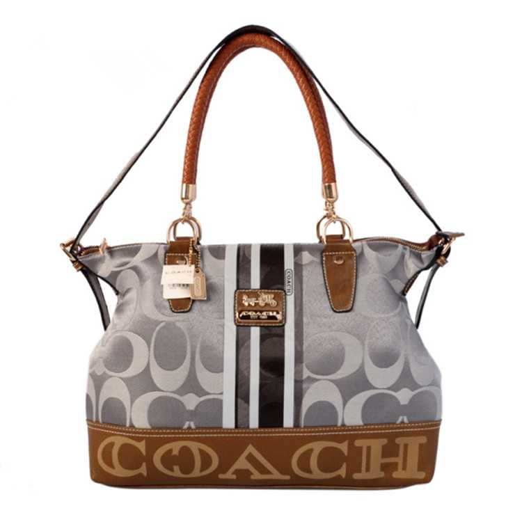 Tote Handbag Grey Coffee Coach