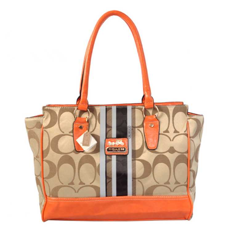 Tote Handbag Coach Coffee Apricot