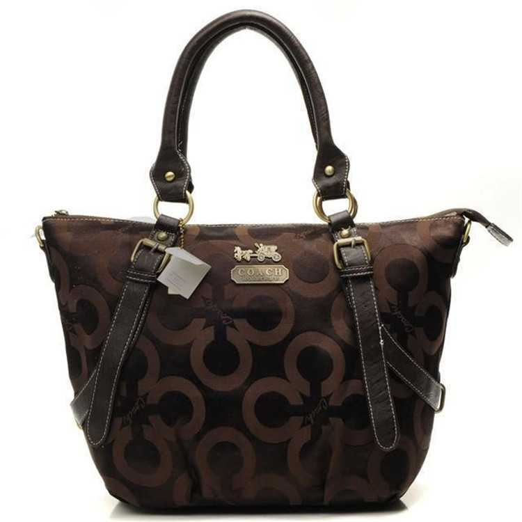 Tote Handbag Coach Circle Brown
