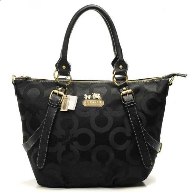 Tote Handbag Coach Circle Black
