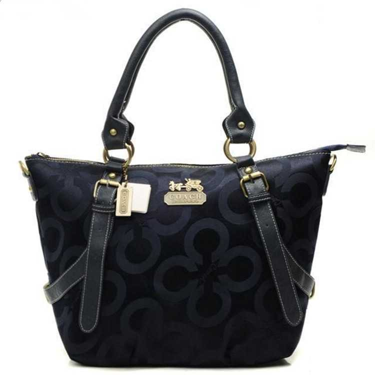 Tote Handbag Coach Circle Navy