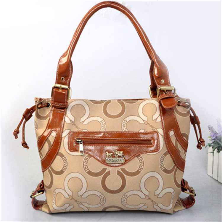 Tote Handbag Coach Circle Apricot