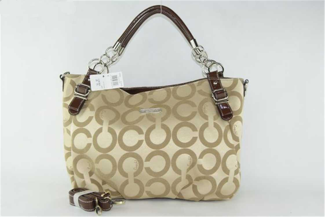 Coach Apricot Circle Hobo Bag