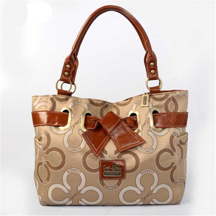 Coffee Beige Tote Handbag Coach