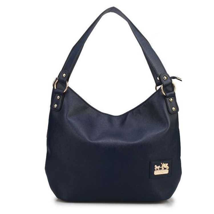 Coach Navy Hobo Bag