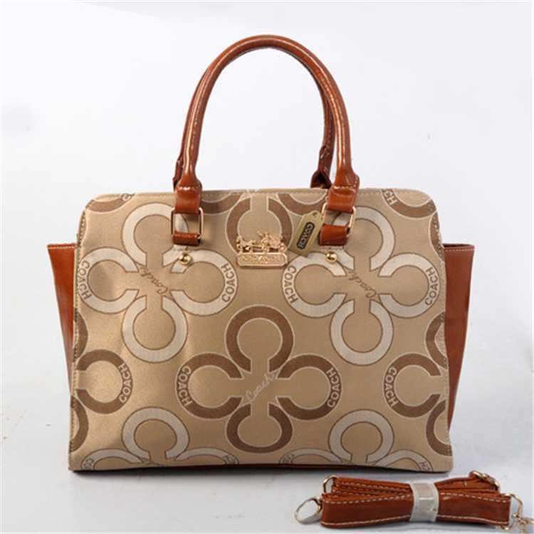 Apricot Coffee Tote Handbag Coach