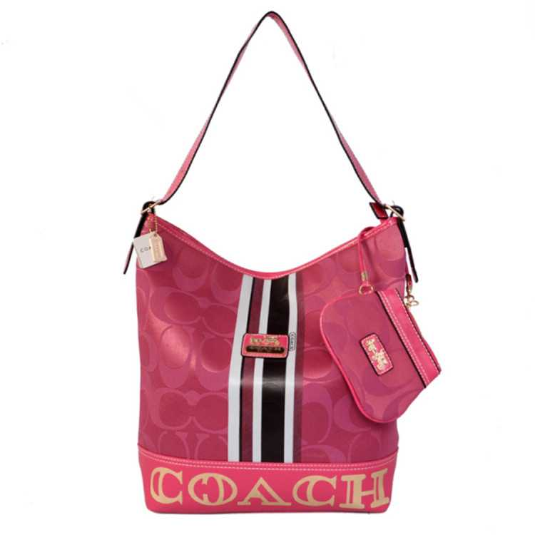 Coach Signature Red Hobo Bag