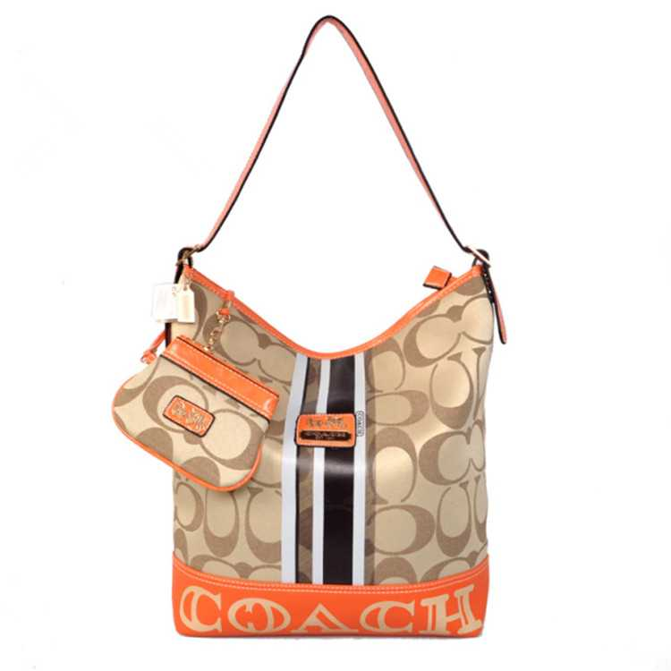 Coach Apricot Orange Hobo Bag