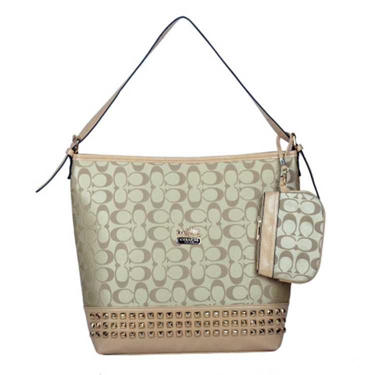 Coach Milky Apricot Hobo Bag