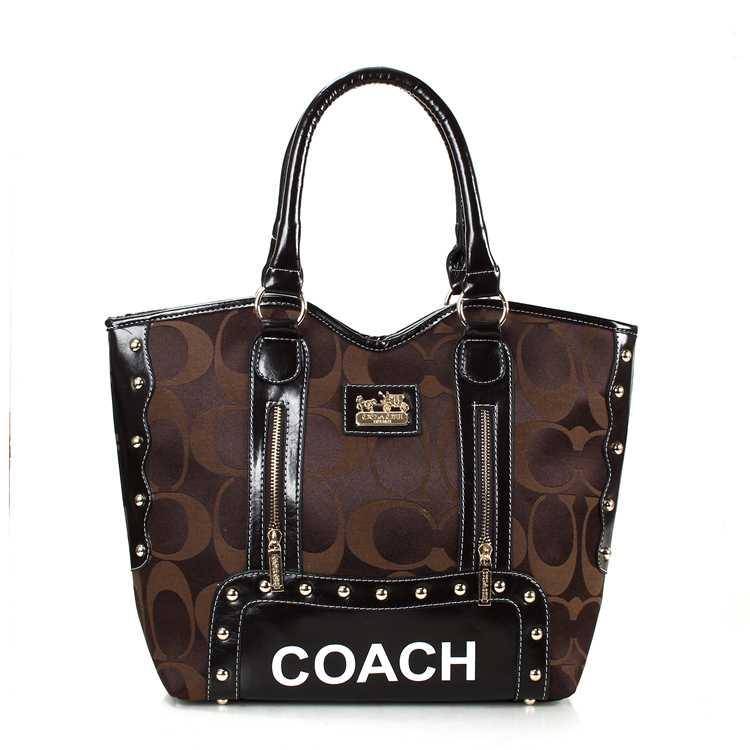 Coach Signature Chocolate Madison Bag