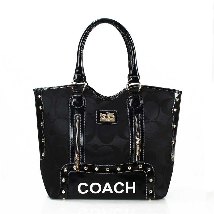 Coach Signature Black Madison Bag