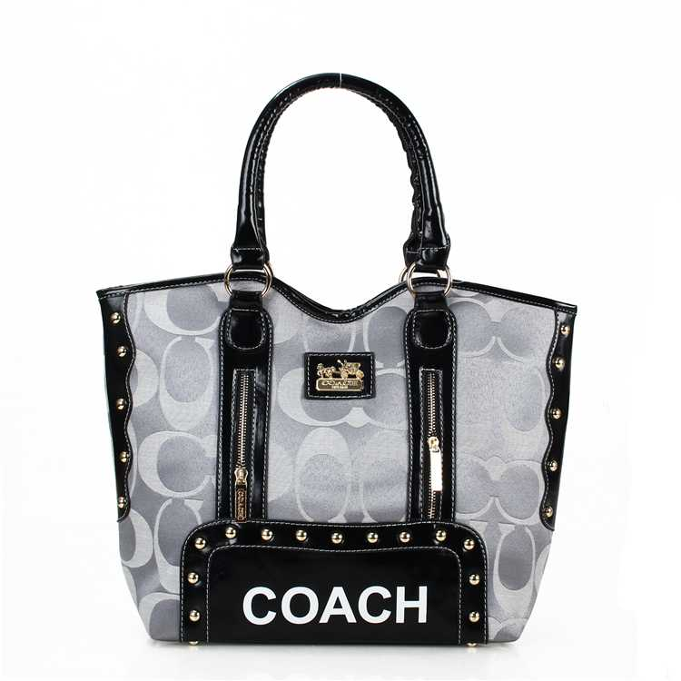 Coach Signature Gray Madison Bag