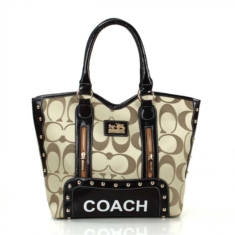 Coach Signature Apricot Madison Bag