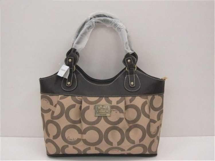 Coach Circle Brown Madison Bag
