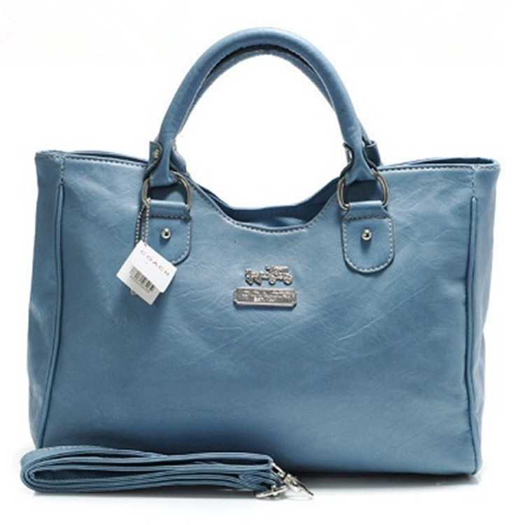 Coach Blue Leather Madison Bag