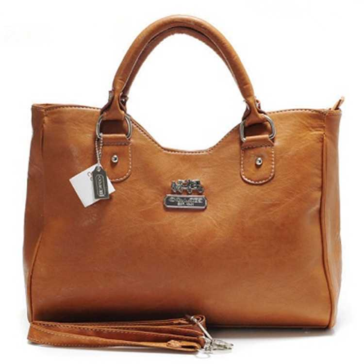 Coach Coffee Leather Madison Bag