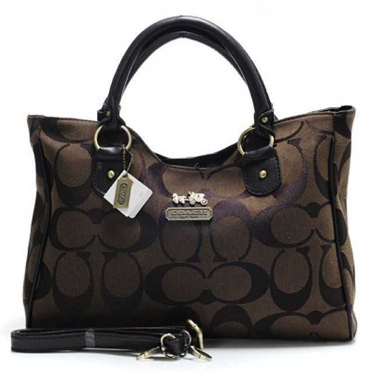 Coach Madison Bag Signature Chocolate