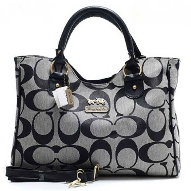 Coach Madison Bag Signature Gray
