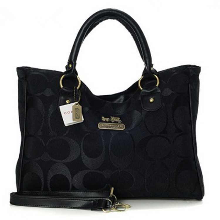 Signature Black Coach Madison Bag