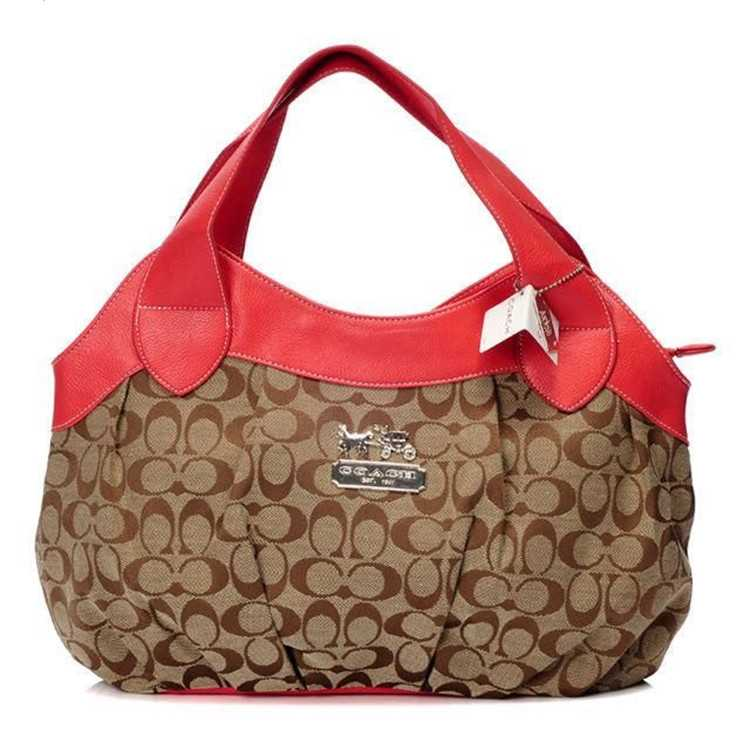 Coach Red Brown Madison Bag