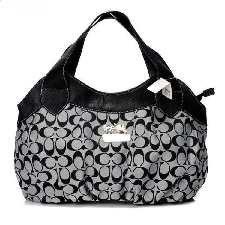 Coach Black Grey Madison Bag
