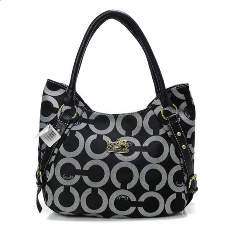 Circle Black Coach Madison Bag