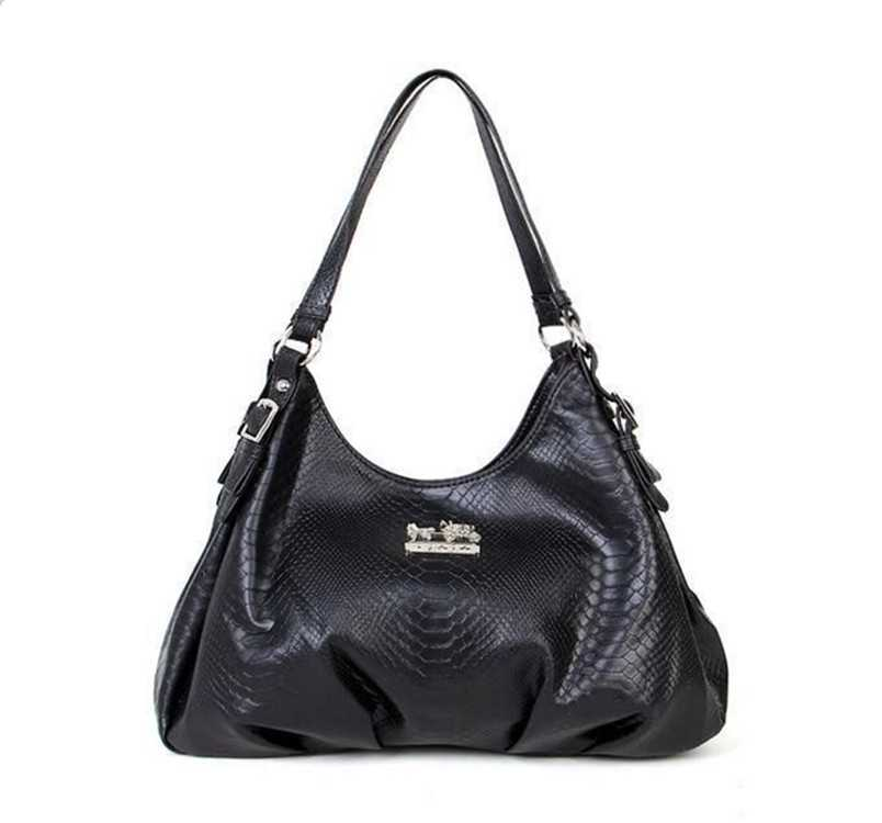 Black Leather Coach Madison Bag