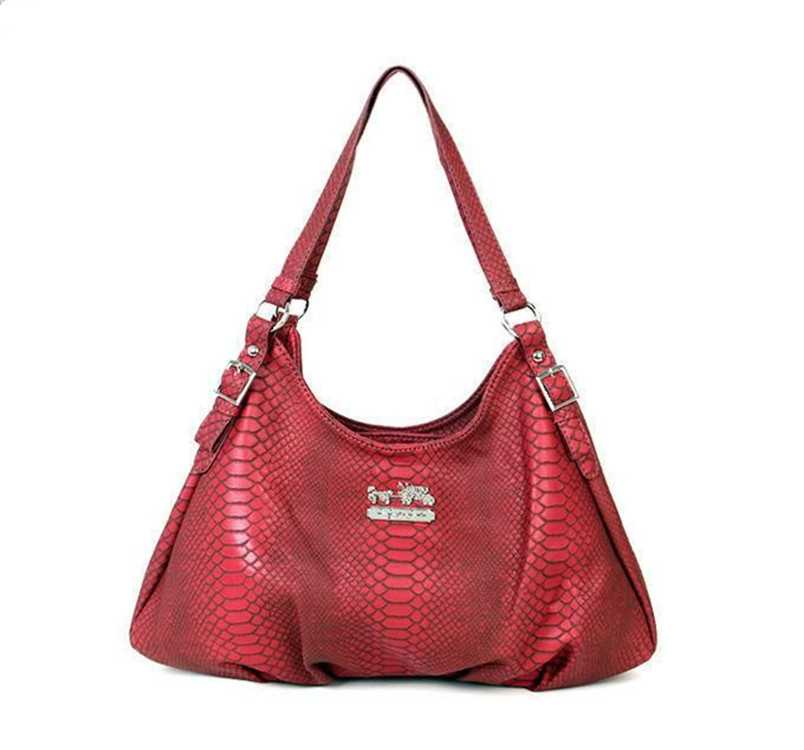 Red Leather Coach Madison Bag