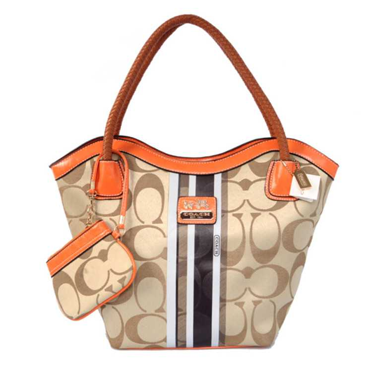 Coach Orange Apricot Madison Bag