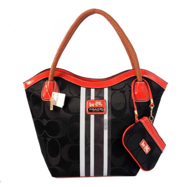 Coach Black Red Madison Bag