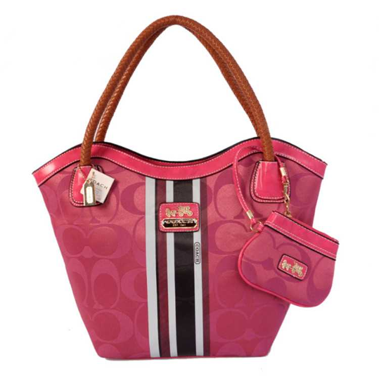 Coach Pink Brwon Madison Bag