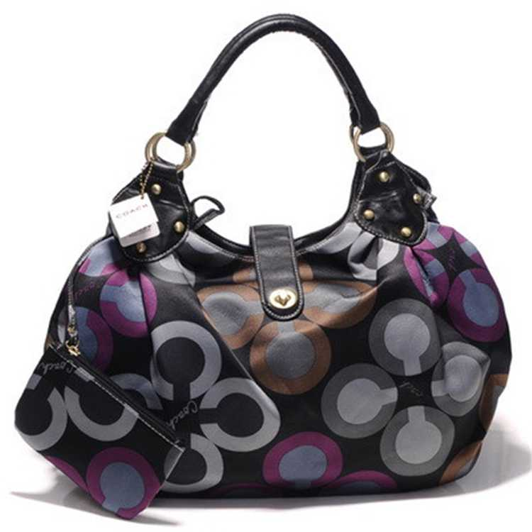 Coach Black Purple Madison Bag