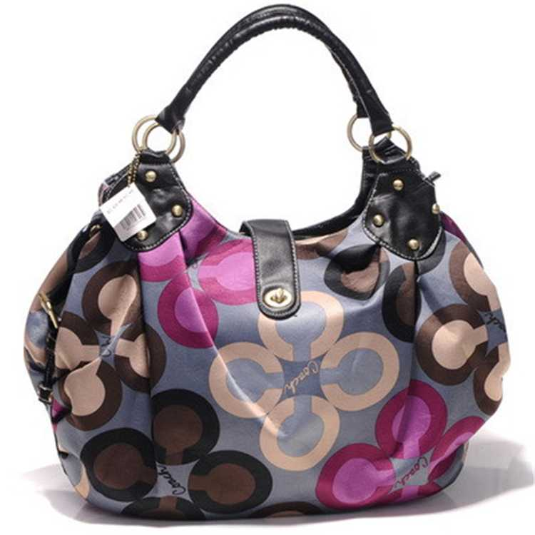 Coach Gray Brown Madison Bag