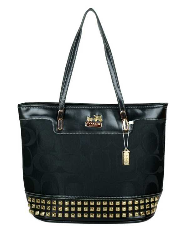 Coach Signature Black Poppy Handbag